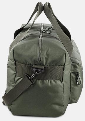 Olivgrön (sida) Resväskor i 2 storlekar med reklamtryck