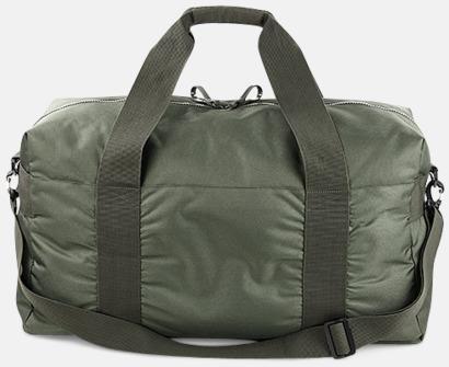 Olivgrön (baksida) Resväskor i 2 storlekar med reklamtryck