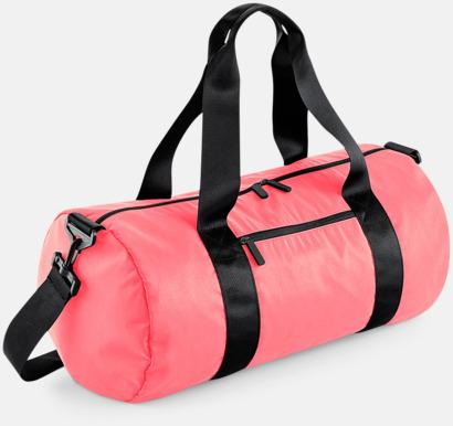 Electric Pink (glansig) Sportbagar i camomönster med reklamtryck