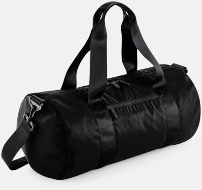Jet Black (glansig) Sportbagar i camomönster med reklamtryck