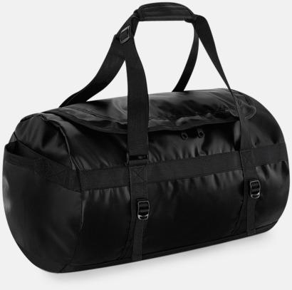 Svart Stora, vattentäta väskor med reklamtryck