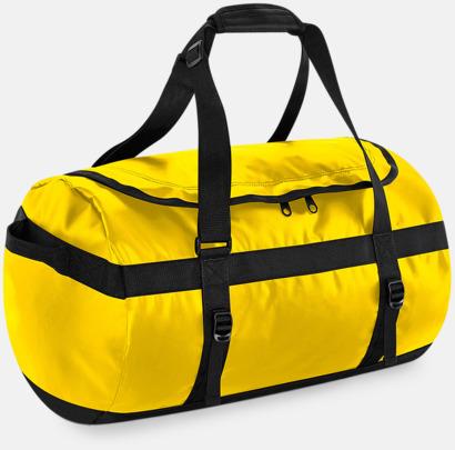 Gul Stora, vattentäta väskor med reklamtryck