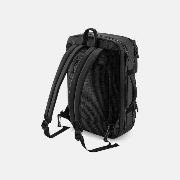 """Mörka 17"""" laptopryggsäckar med eget tryck"""