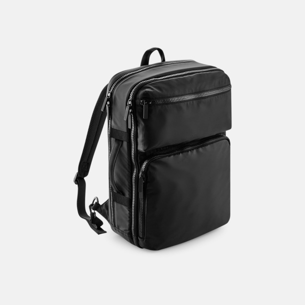 """Svart Mörka 17"""" laptopryggsäckar med eget tryck"""