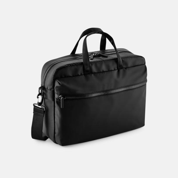 Svart Laptop ryggsäck & axelväska med reklamtryck