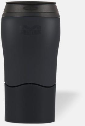 Svart Mighty mug med smartgrip - med reklamtryck