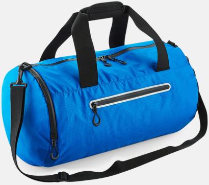 Shock Blue Sportbagar med reflex - med reklamtryck