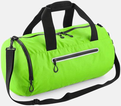 Acid Green Sportbagar med reflex - med reklamtryck
