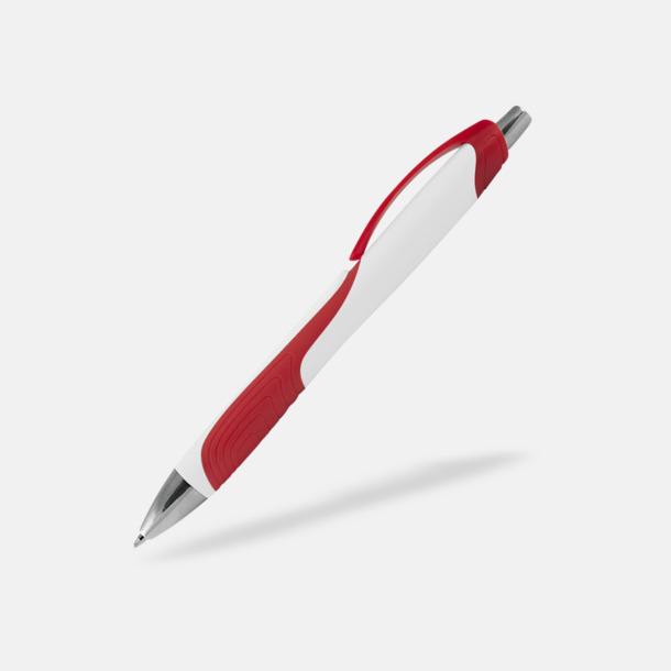 Vit / Röd Annorlunda bläckpennor med reklamtryck