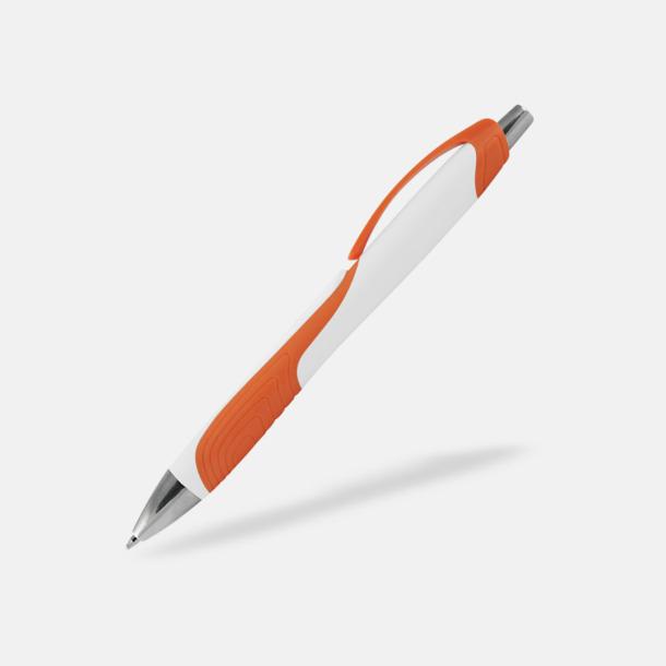 Vit / Orange Annorlunda bläckpennor med reklamtryck