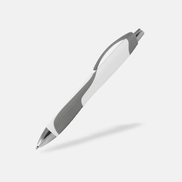 Vit / Grå Annorlunda bläckpennor med reklamtryck