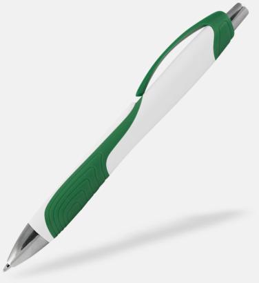 Vit / Grön Annorlunda bläckpennor med reklamtryck
