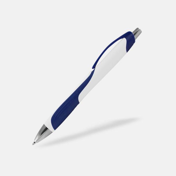 Vit / Blå Annorlunda bläckpennor med reklamtryck