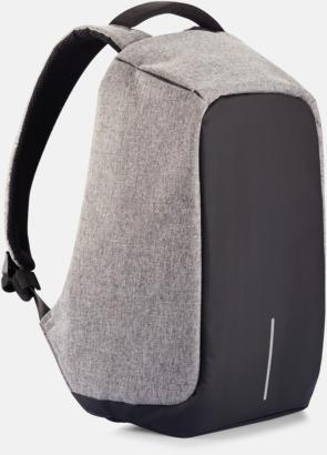 Grå Ficktjuvsäkra ryggsäckar med reklamtryck