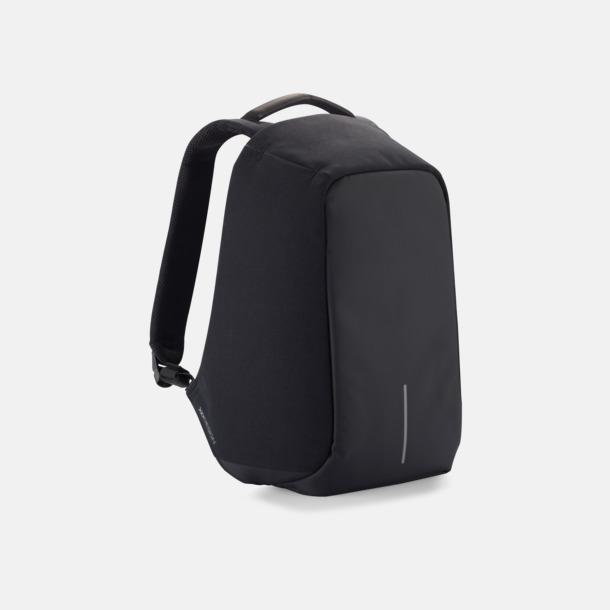 Svart Ficktjuvsäkra ryggsäckar med reklamtryck