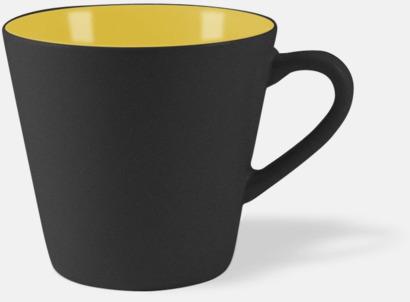 Svart / Gul Vackra kaffemuggar med reklamtryck