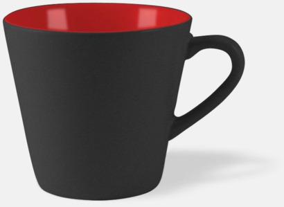 Svart / Röd Vackra kaffemuggar med reklamtryck