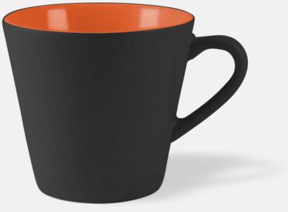 Svart / Orange Vackra kaffemuggar med reklamtryck