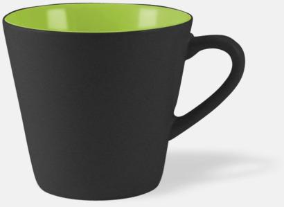 Svart / Limegrön Vackra kaffemuggar med reklamtryck