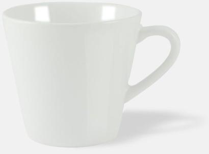 Vit (blank) Vackra kaffemuggar med reklamtryck