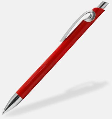 Röd Eleganta plastpennor med reklamtryck