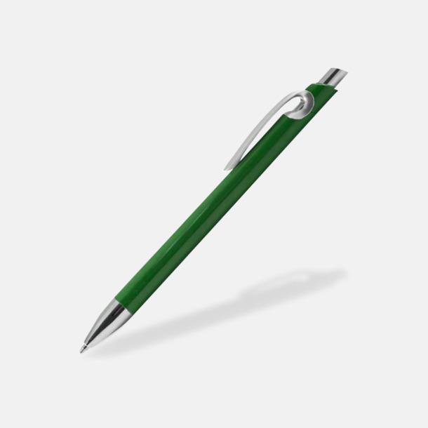 Grön Eleganta plastpennor med reklamtryck