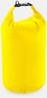 Gul (15 liter) Vattentäta sjömansväskor i tre storlekar med reklamtryck