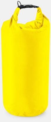 Gul (5 liter) Vattentäta sjömansväskor i tre storlekar med reklamtryck