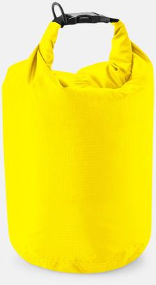 Gul (1 liter) Vattentäta sjömansväskor i tre storlekar med reklamtryck