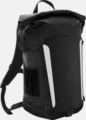 Svart Vattentäta ryggsäckar med reklamtryck