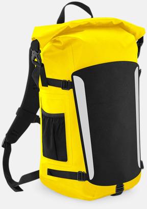Gul / Svart Vattentäta ryggsäckar med reklamtryck