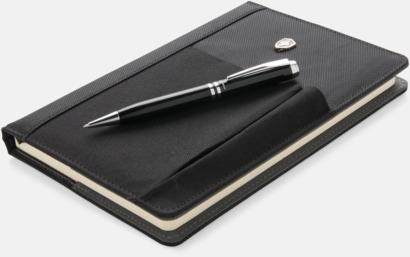 Anteckningsbok med penna och mobilficka - med reklamtryck