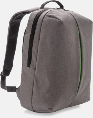 Grå / Grön Kontors- & sportryggsäckar med reklamtryck