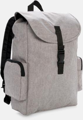 """Grå 15"""" laptopryggsäck med reklamtryck"""