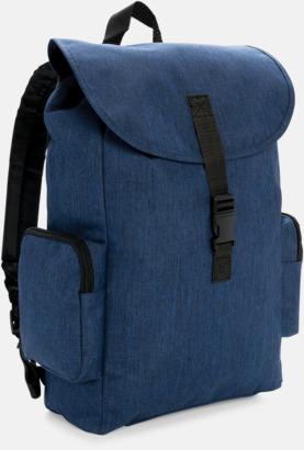 """Marinblå 15"""" laptopryggsäck med reklamtryck"""