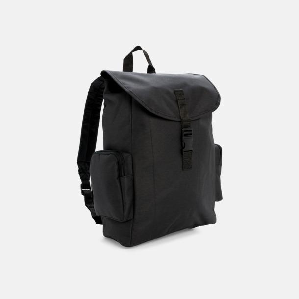 """Svart 15"""" laptopryggsäck med reklamtryck"""