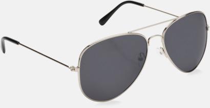 Silver Pilot solglasögon från Swiss Peak med reklamtryck