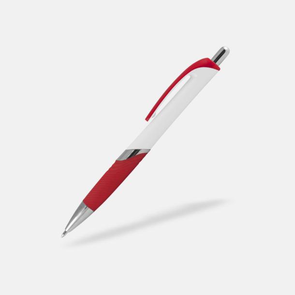 Vit / Röd Moderna bläckpennor med reklamtryck