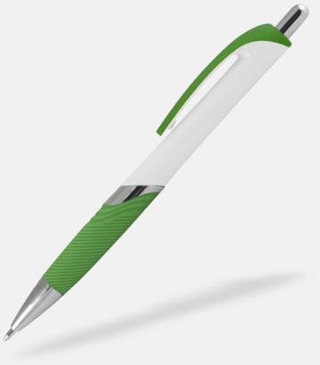Vit / Ljusgrön Moderna bläckpennor med reklamtryck