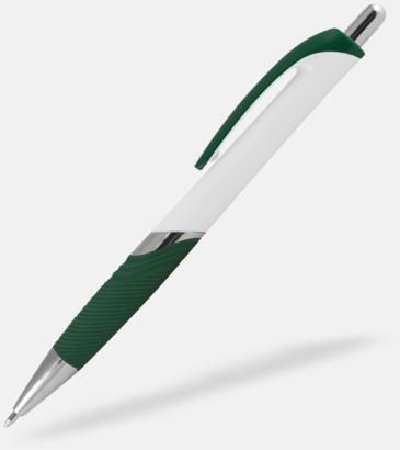 Vit / Mörkgrön Moderna bläckpennor med reklamtryck