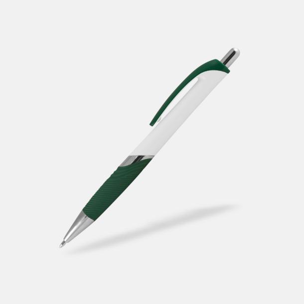 Vit / Grön Moderna bläckpennor med reklamtryck
