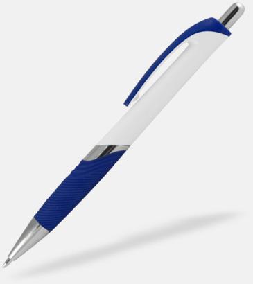 Vit / Blå Moderna bläckpennor med reklamtryck