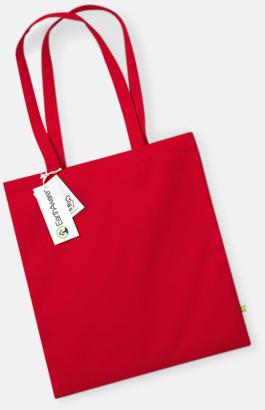 Classic Red Ekologiska bomullspåsar med reklamtryck