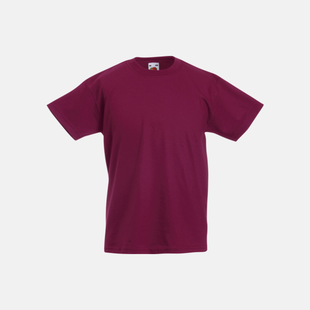 Burgundy T-shirt barn - Valueweigth barn t-shirt