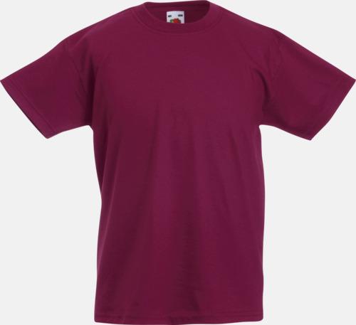 Burgundy T-shirt barn - Valueweigth barn t-shirt
