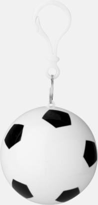 Vit / Svart Ponchoboll med fotbollsmönster - med reklamtryck