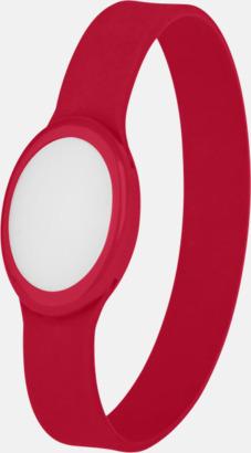 Röd Festivalarmband med skiftande LED-ljus - med reklamtryck