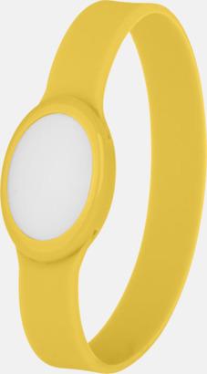 Gul Festivalarmband med skiftande LED-ljus - med reklamtryck
