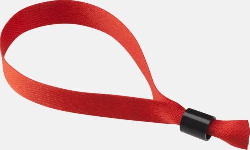 Röd Festivalarmband i polyester med reklamtryck