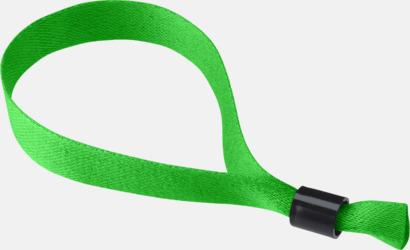 Grön Festivalarmband i polyester med reklamtryck